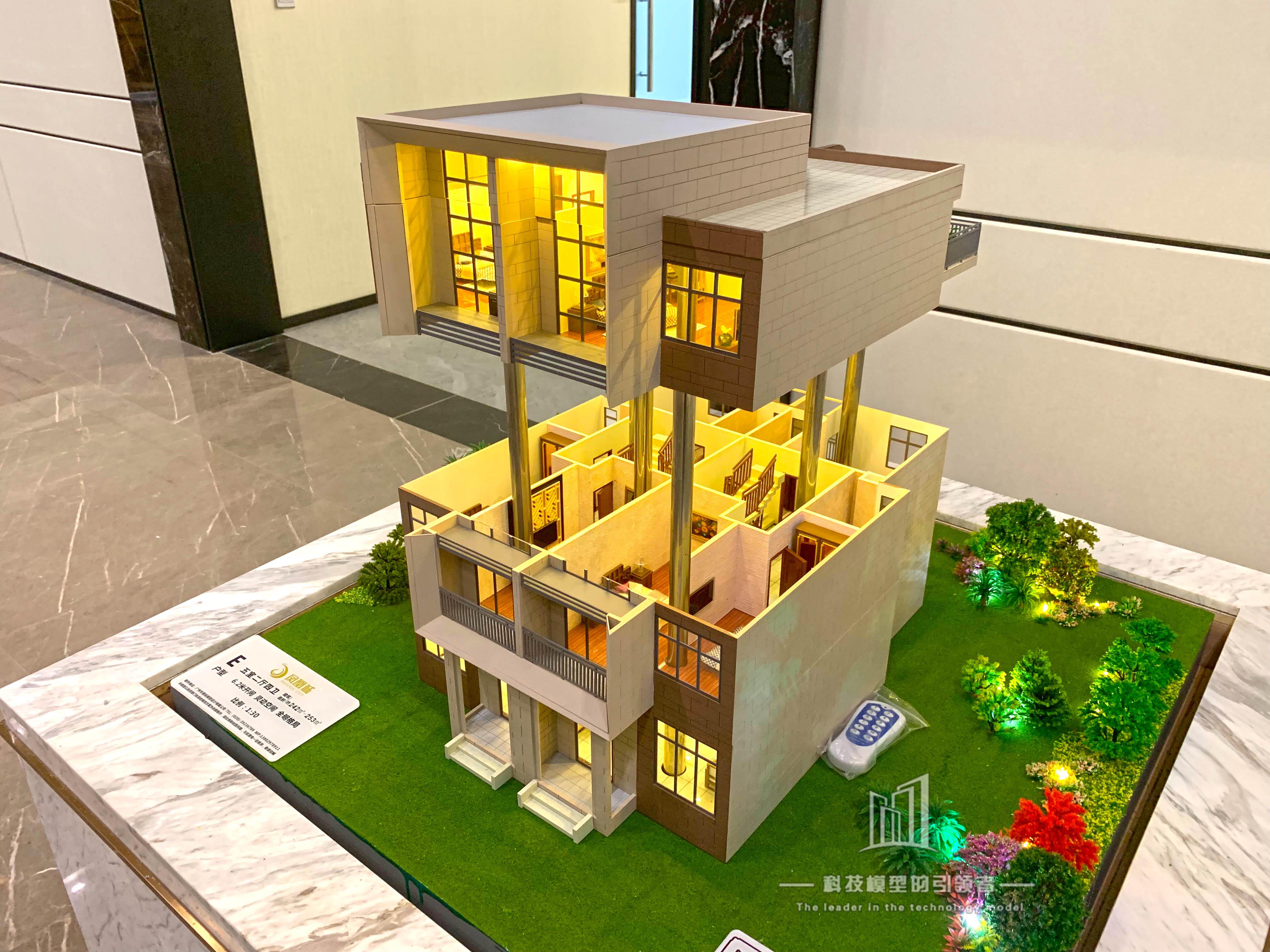 升降别墅单体模型