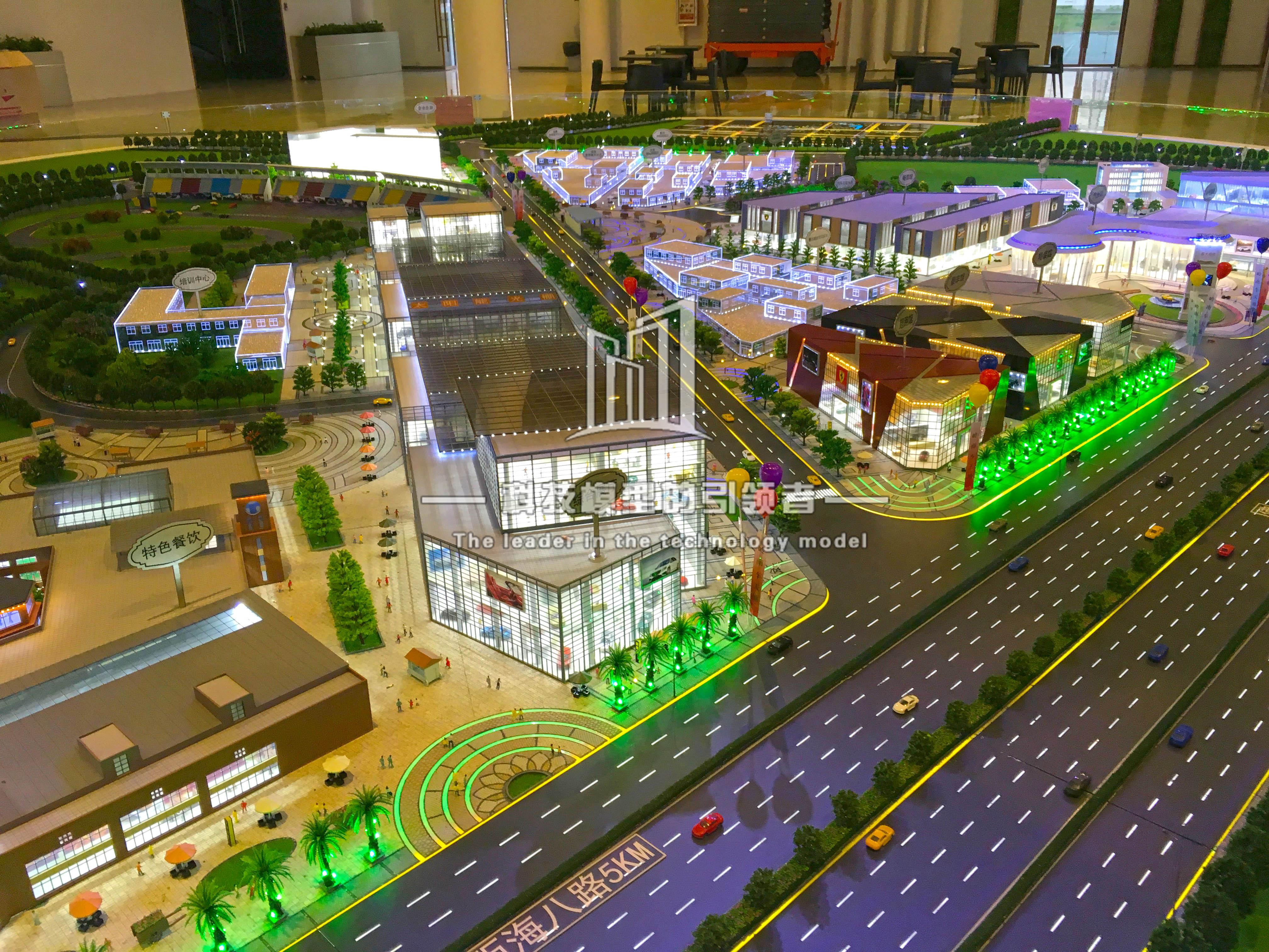 佛山车天地展厅模型